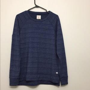 3/$30 Champion Striped Blue Long Sleeve Sz M